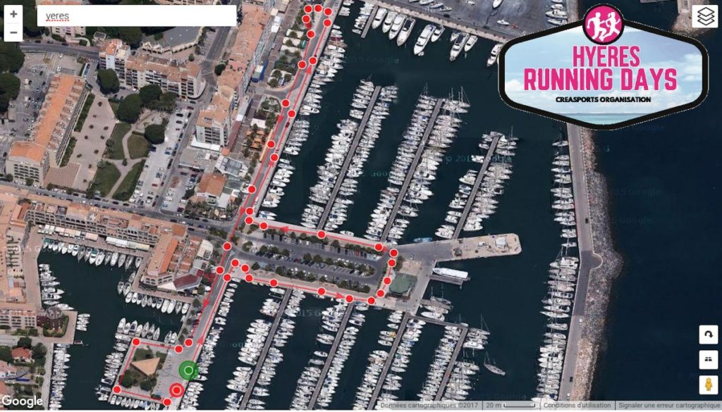 parcours-corporat-run-hyères running days 2017