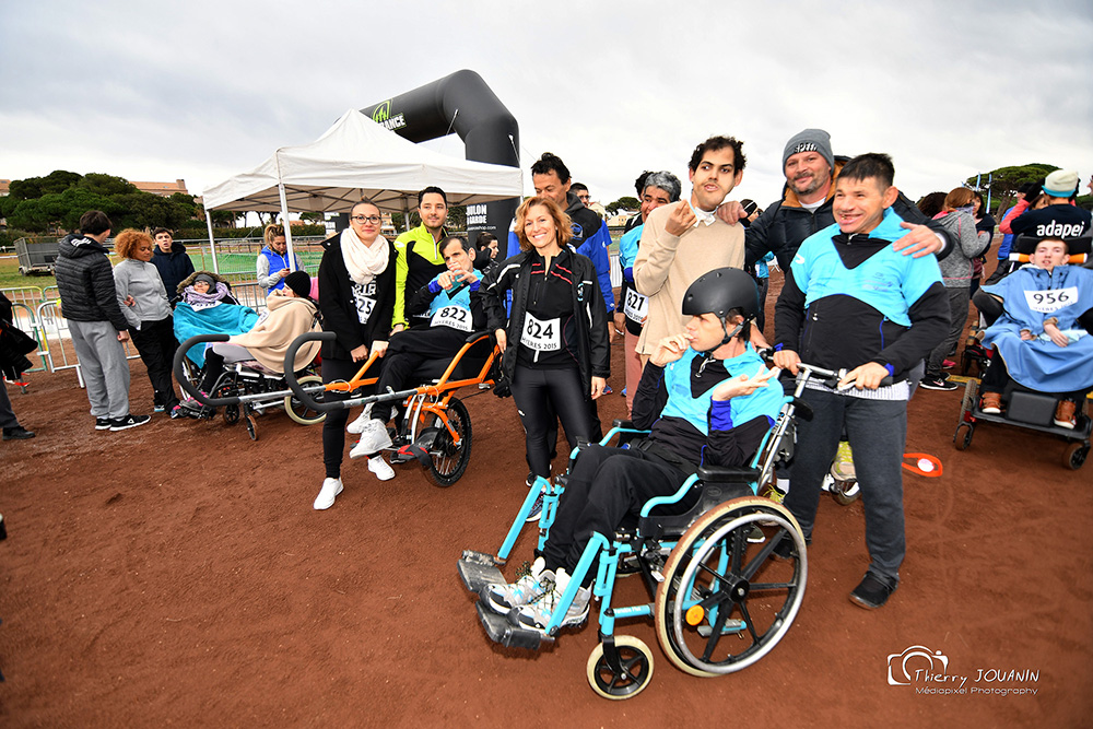 cross adapté handi run hyères running days