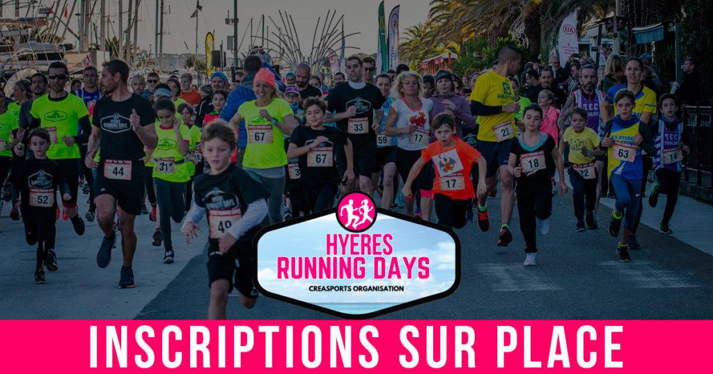 Inscriptions sur place hyères running days 2018