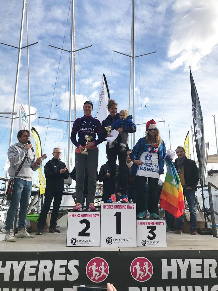 podium-seniors-F-10-km- PROM'HYERES Hyères Running Days 2018