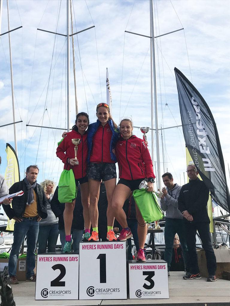 podium-seniors-F-5-km- PROM'HYERES Hyères Running Days 2018