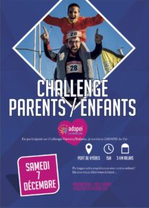 Affiche Challenge Parents Enfants Hyères Running Days 2019 - Communication digitale Ingenieweb