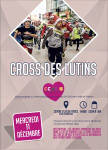 Affiche Cross des Lutins Hyères Running Days 2019 - Communication digitale Ingenieweb