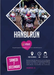 Affiche Handi Run Hyères Running Days 2019 - Communication digitale Ingenieweb
