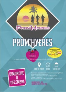 Affiche Prom'Hyères Hyères Running Days 2019 - Communication digitale Ingenieweb