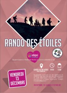 Affiche Rando des étoiles Hyères Running Days 2019 - Communication digitale Ingenieweb