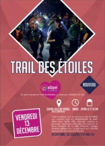 Affiche Trail des étoiles Hyères Running Days 2019 - Communication digitale Ingenieweb