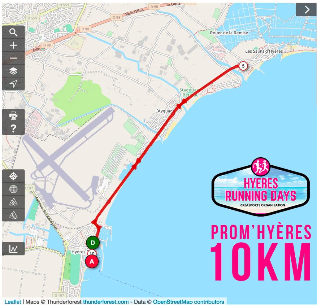 Parcours-Prom-Hyères-10km-hyères running days 2019 - site internet ingenieweb