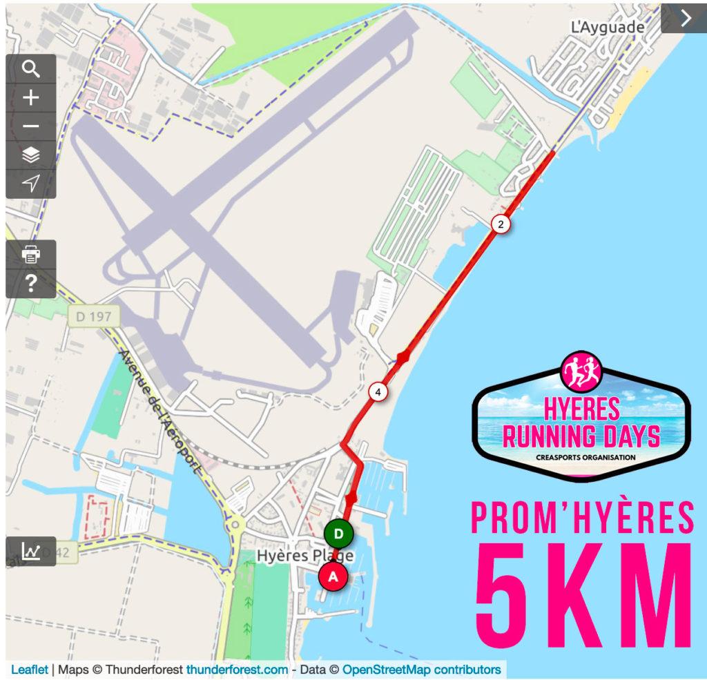 Parcours-Prom-Hyères-5km-hyères running days 2019 - site internet ingenieweb